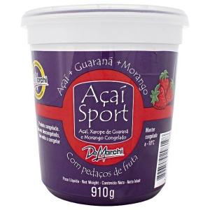 AÇAI NATURAL COM GUARANÁ E MORANGO DEMARCHI 910g