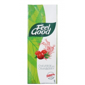 CHÁ VERDE FEEL GOOD SABOR CRANBERRY 1 L