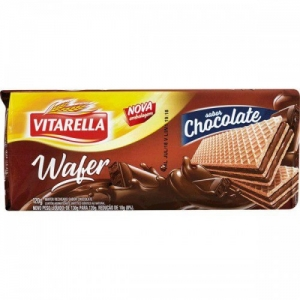 BISCOITO WAFER CHOCOLATE VITARELLA 120G